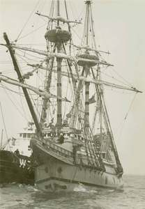 Mayflower II in Harbor 1957