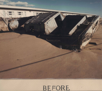 Color Photo of Trapboat Charlotte Before Repair