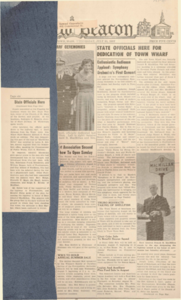 "Newspaper article from ""New Beacon"" of Dedication of Town Wharf July 31, 1957"