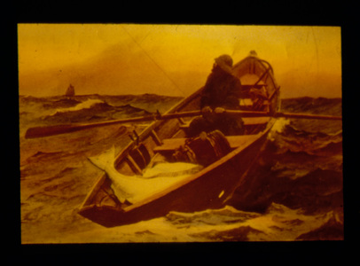 Man in Dory After Painting by Winslow Homer