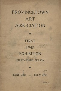 Provincetown Art Association Exhibition (First) 1947
