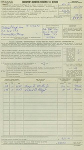 National Trap Inc. 1953 Employer's Quarterly Federal Tax Return