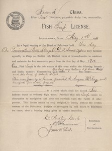 Trap Fishing License 1911