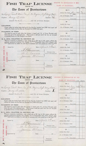 Long Point Weir Co. Fish Trap License