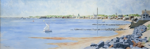 """Untitled (Provincetown Shoreline)"" George Yater (1910-1993)"