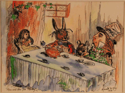 """Alice and the Tea Party"" Ronald W. Kay"