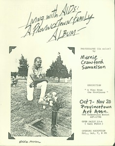 AIDS Photography Exhibit Flyer