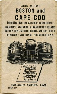 Boston and Cape Cod Railroad, 1951 Schedule