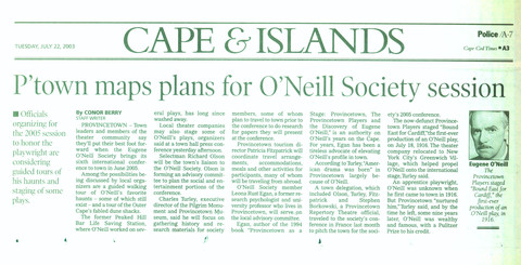 O'Neil Society 2003 Conference in Provincetown