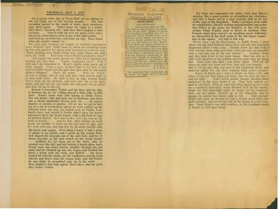 Scrapbooks of Althea Boxell (1/19/1910 - 10/4/1988), Book 9, Page107