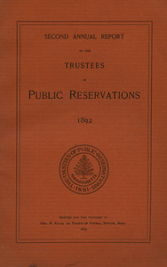 Trustees of Reservations Report - 1892