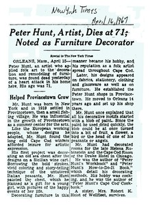 Peter Hunt Information