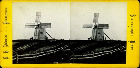 Stereoscopic View - Windmill