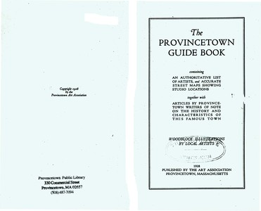 Guide Book to Provincetown 1928
