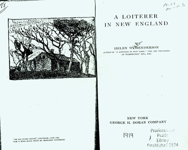 The Province Lands from 'Loiterer in New England'