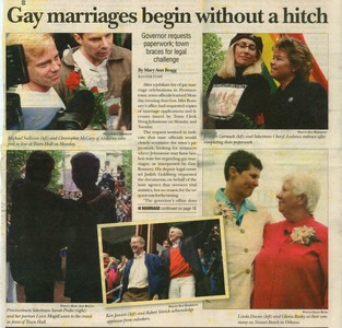 Gay Marriages Begin Without A Hitch