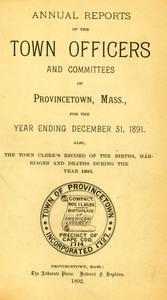 Annual Town Report - 1891