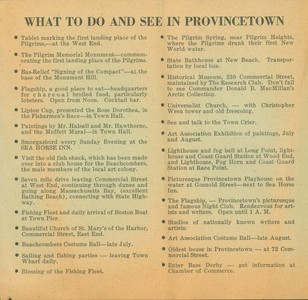 What to see in Provincetown (undated)
