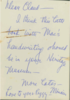 Letter Included with  MacMillan Collection