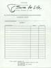 Pledge Form for the First Swim For Life 1988