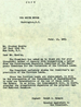 White House letter to Stanley Kunitz