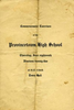 Commencement Program PHS - 1925