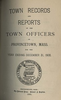Annual Town Report - 1908